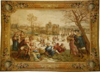 Skaters tapestry - Mois de Lucas tapestries - December tapestry