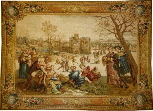 Skaters tapestry - Mois de Lucas tapestries - December tapestry