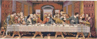 Last Supper tapestry - da Vinci - wall hanging woven in Italy