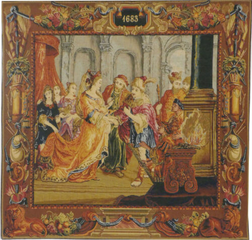 Solomon and the Queen of Sheba - tapestry woven in France
