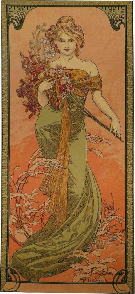 Spring - Mucha tapestry - The Seasons tapestries - Art Nouveau