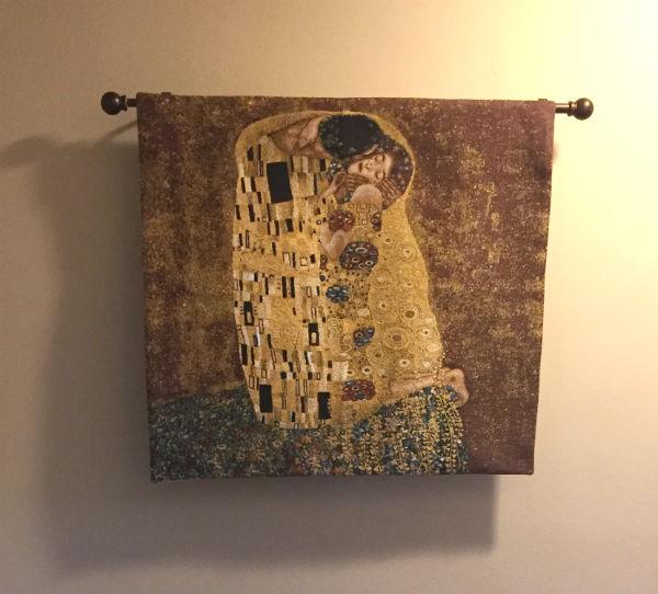 Square Kiss tapestry - Gustav Klimt