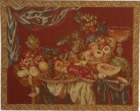 Still Life - wine colour Italian wall tapestry on sale