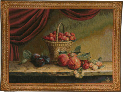 Strawberry Basket tapestry - French wall tapestry on sale
