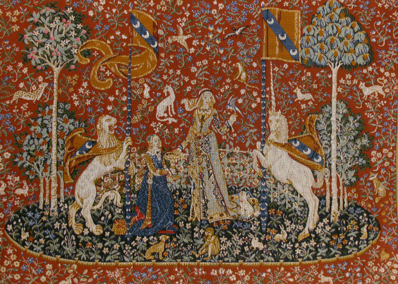 Taste tapestry wallhanging - Lady with the Unicorn tapestries