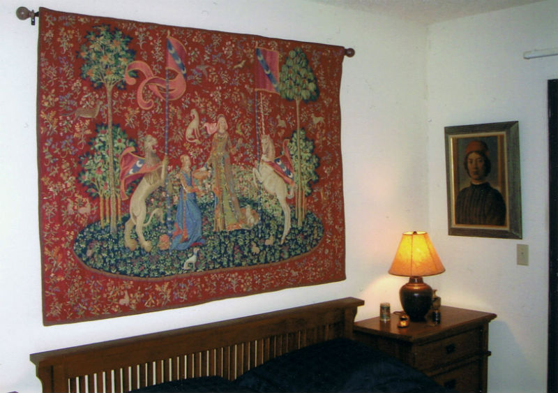Taste tapestry from the Lady and the Unicorn tapestries