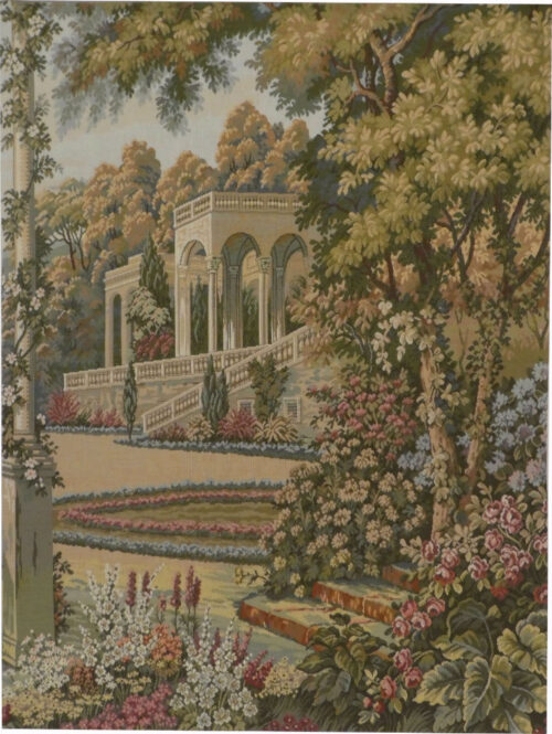 Temple in the Gardens tapestry special - Lake Como tapestries