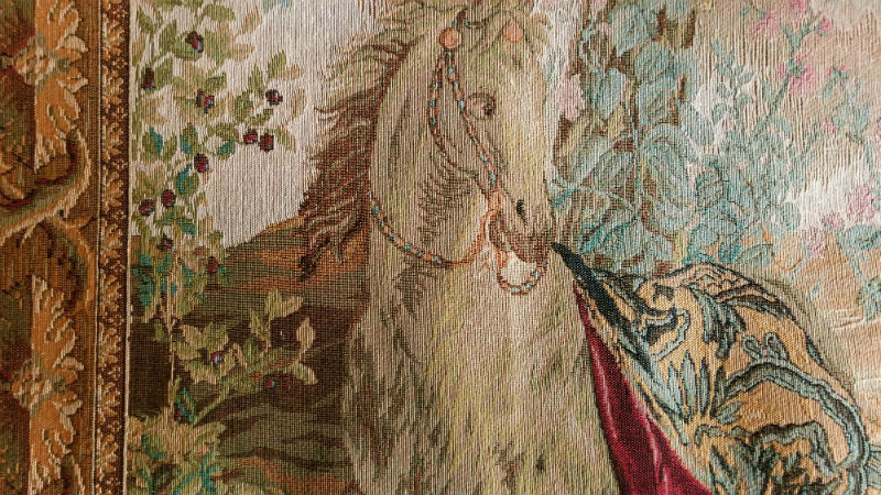 Tenture des Indes tapestries close-up detail