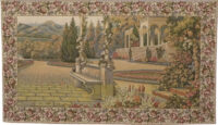 Terrace at Lake Como tapestry - woven in Italy - Villa d'Este