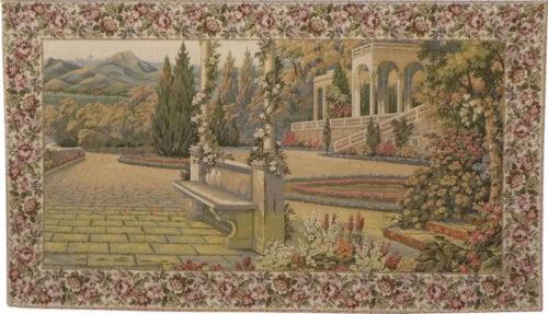 Terrace at Lake Como tapestry - woven in Italy - Villa d'Este