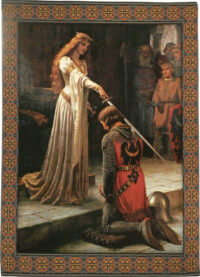 The Accolade wall tapestry - Edmund Blair Leighton art
