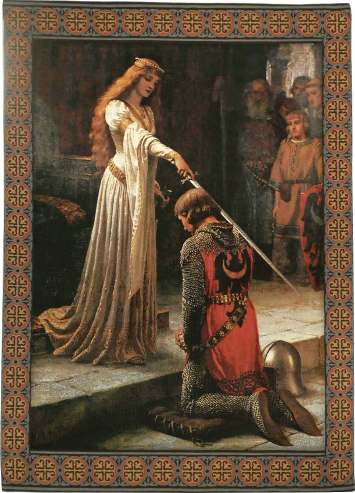 The Accolade Wall Tapestry Edmund Blair Leighton Art