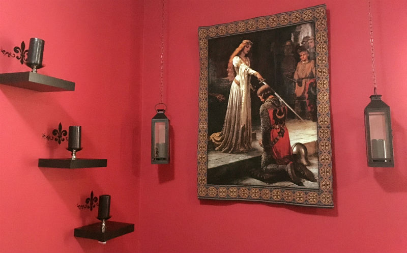 The Accolade wall tapestry hanging in the United Arab Emirates