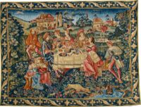 The Banquet tapestry - medieval wall-hanging woven in France