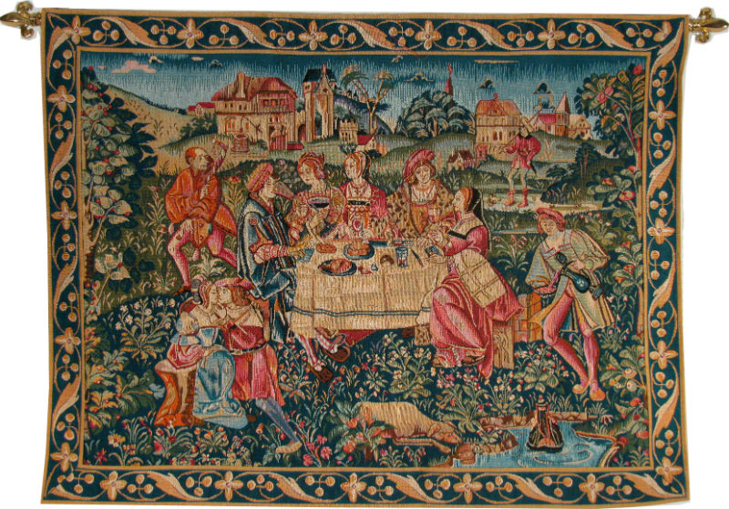The Banquet tapestry hanging