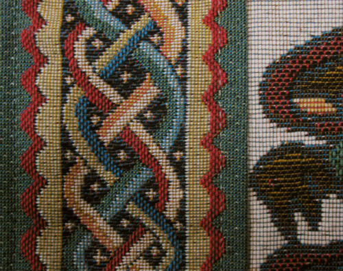 The Bayeux Tapestry - celtic border detail