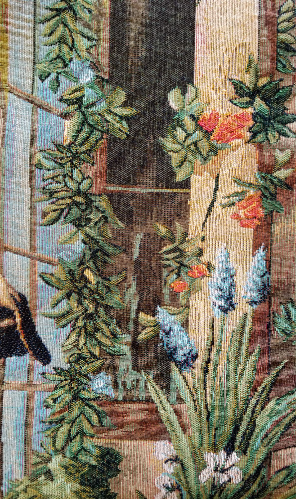 The Big Greenhouse tapestry close-up