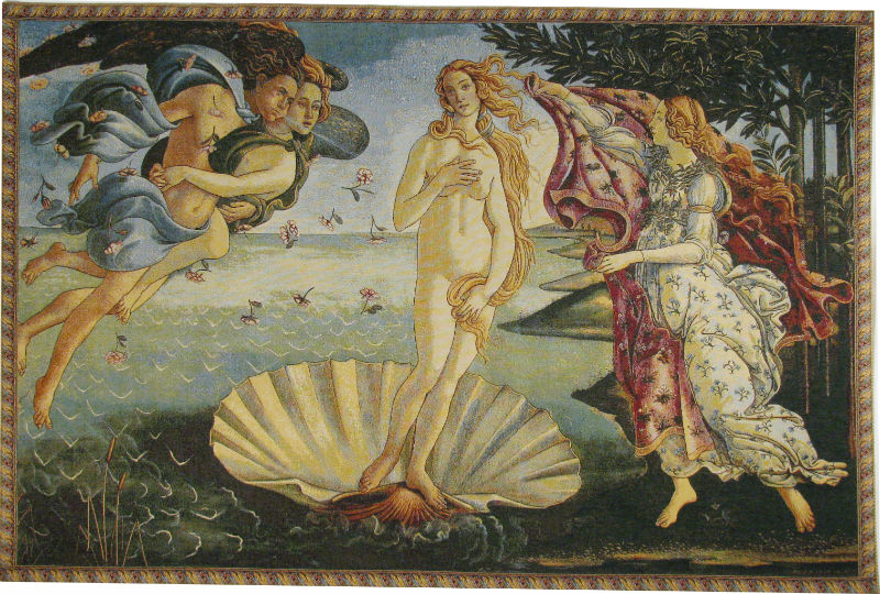 The Birth of Venus tapestry - Sandro Botticelli art - Uffizi Gallery Florence