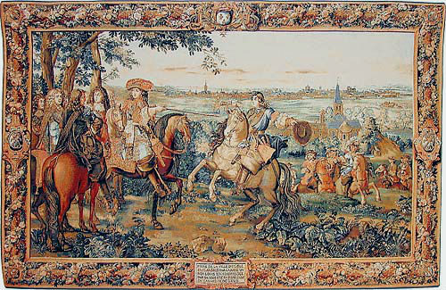 The Capture of Lille tapestry - Louis XIV battle wall tapestries
