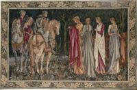 The Departure of the Knights tapestry - San Graal tapestries - Burne-Jones