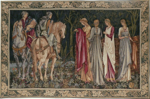 The Departure of the Knights tapestry - San Graal tapestries - Burne-Jones