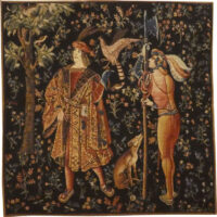 The Falconer tapestry - medieval French wall tapestries