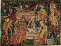 The Grape Harvest tapestry - Vendange Cluny Museum
