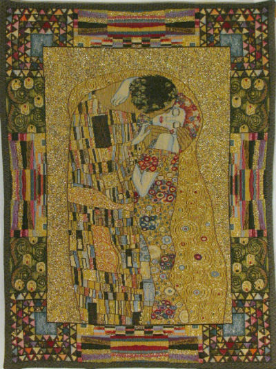 The Kiss small tapestry - French Klimt tapestries