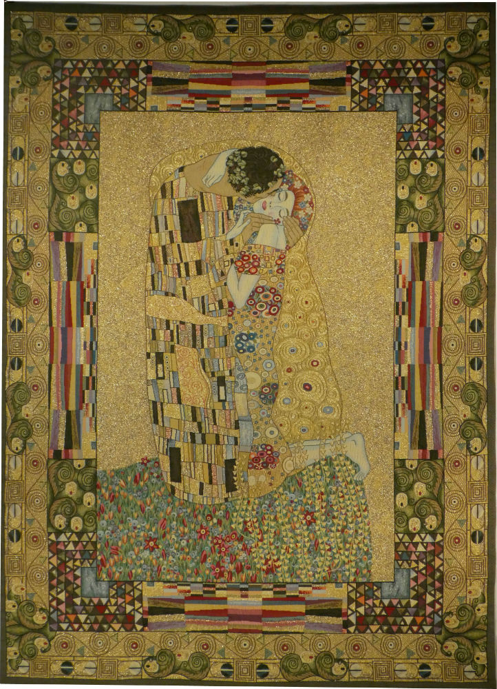 The Kiss Tapestry Gustav Klimt French Wall Hanging