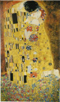 The Kiss tapestry wall hanging - Gustav Klimt tapestries