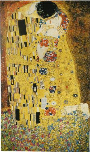 The Kiss tapestry wall hanging - Gustav Klimt tapestries