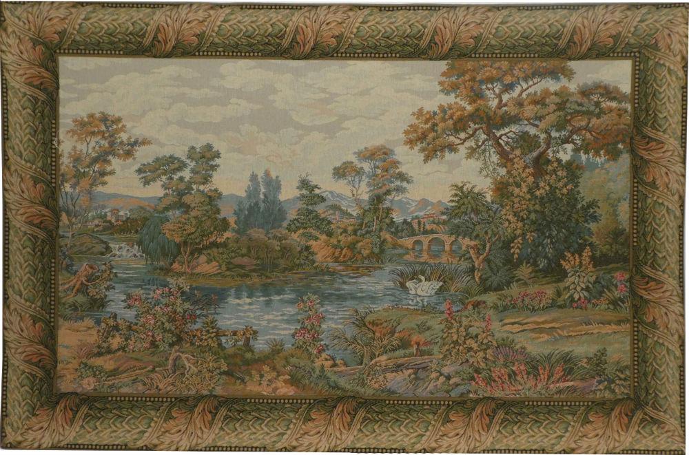 The Lake Tapestry - Italian landscape scene on sale