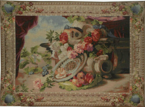 The Mandolin tapestry - Musee d'Orsay tapestries in Paris