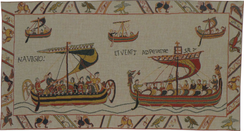 The Norman Fleet tapestry - Duke William's ships - Bayeux Tapestry