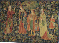 The Promenade tapestry - Cluny Museum wall tapestries