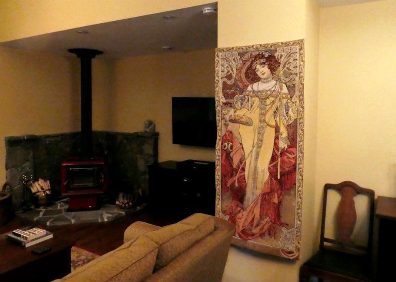 The Seasons fall tapestry by Alphonse Mucha