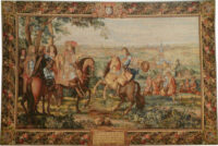 The Taking of Lille tapestry - Louis XIV gobelins tapestries