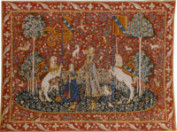 The Taste tapestry wall-hanging - Lady with the Unicorn tapestries