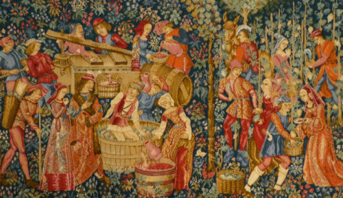 The Vintage wall tapestry - 15th century medieval tapestries