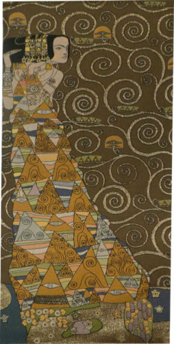 The Waiting wall tapestry - a painting by Gustav Klimt