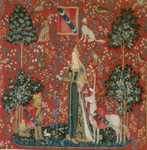 Touch square tapestry - Lady with the Unicorn tapestries