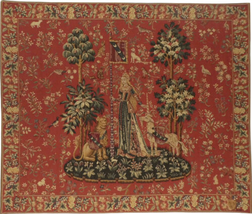 Touch tapestry wallhanging - Lady with the Unicorn tapestries