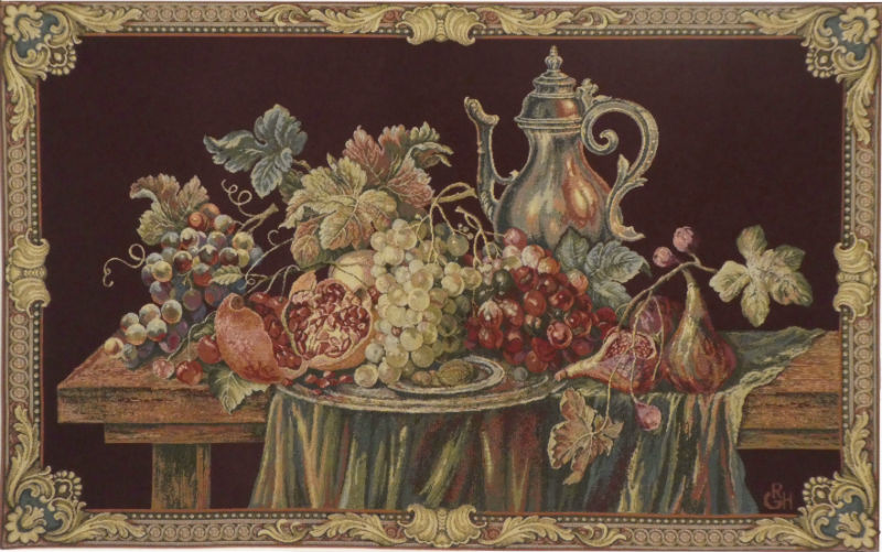 Tray of Grapes tapestry - Italian wall tapestry on sale