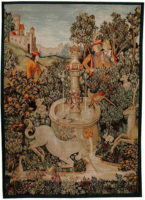 The Unicorn at the Fountain tapestry - Metropolitan Cloisters