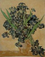 Vincent Van Gogh Irises - beige Belgian wall tapestry