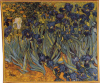 Vincent Van Gogh Irises tapestry - French tapestry wall art