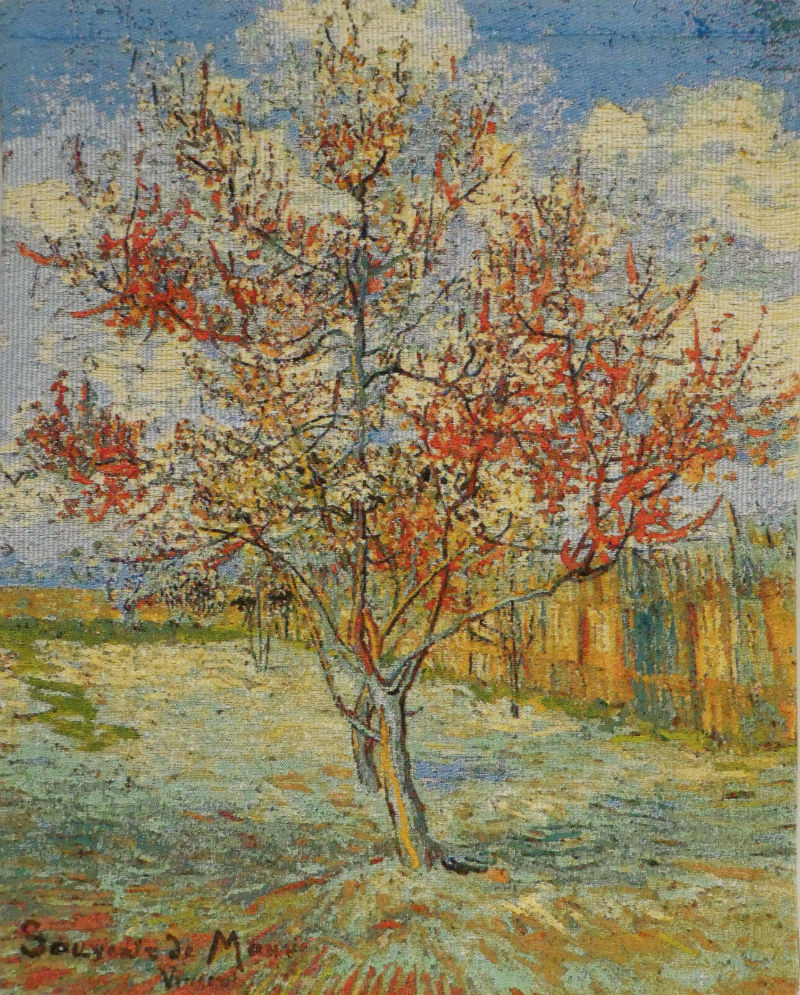 Van Gogh Peach Tree tapestry - Belgian art wall-hanging