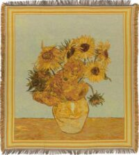 Sunflowers throw - Vincent Van Gogh - French throws