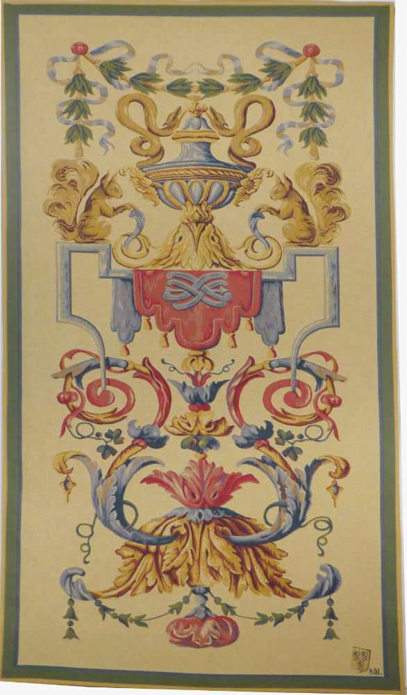 Vaux le Vicomte tapestry - elegant French wall tapestry