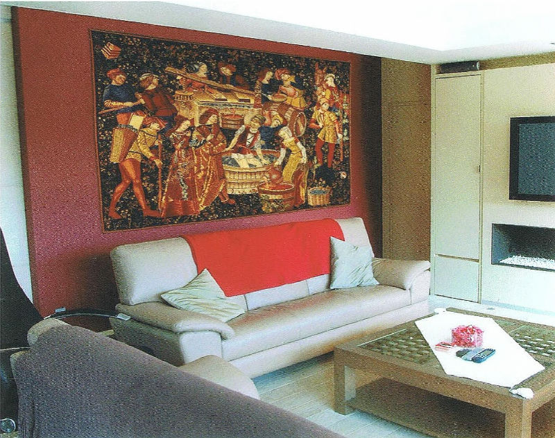 Vendange tapestry wall-hangings - The Grapes Harvest